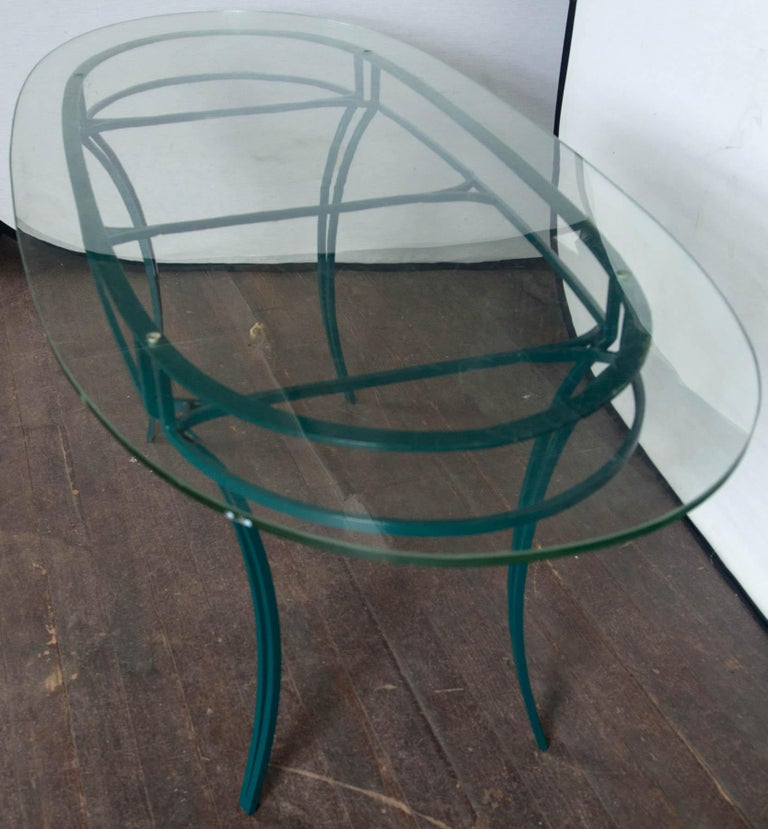 French Garden Table with Four Chairs After René Prou For Sale 1