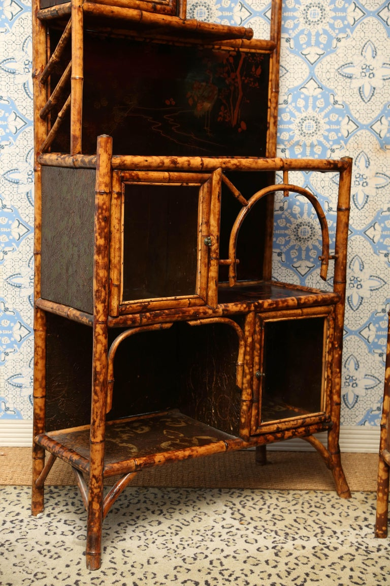 Superb 19th Century English Bamboo Cabinet In Excellent Condition For Sale In West Palm Beach, FL