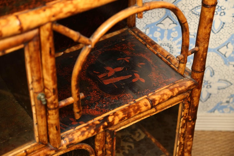 Superb 19th Century English Bamboo Cabinet For Sale 3