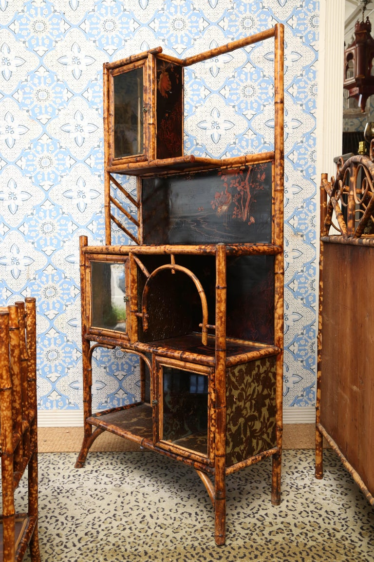 Superb 19th Century English Bamboo Cabinet For Sale 4