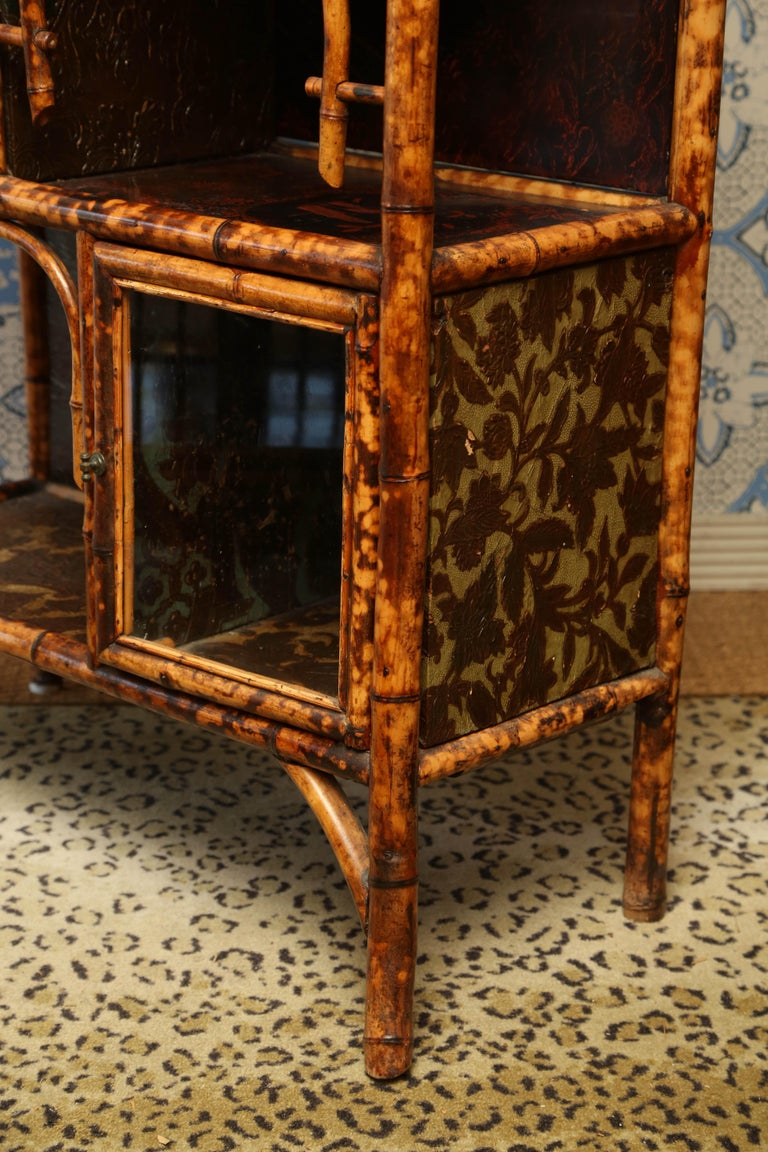 Superb 19th Century English Bamboo Cabinet For Sale 6
