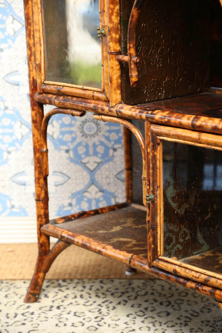 Superb 19th Century English Bamboo Cabinet For Sale 5