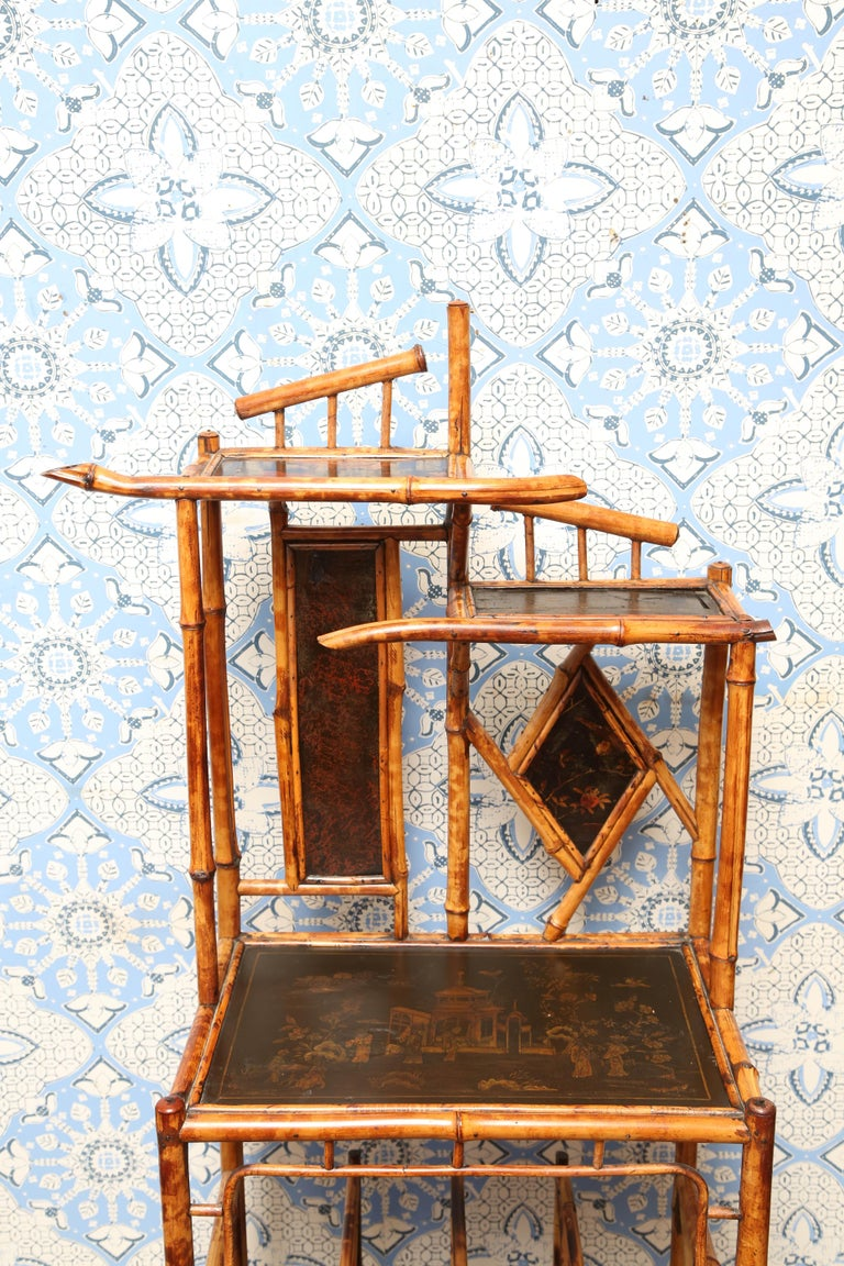 Superb 19th Century English Bamboo Magazine Rack In Excellent Condition For Sale In West Palm Beach, FL