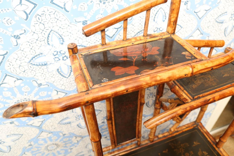 Superb 19th Century English Bamboo Magazine Rack For Sale 3