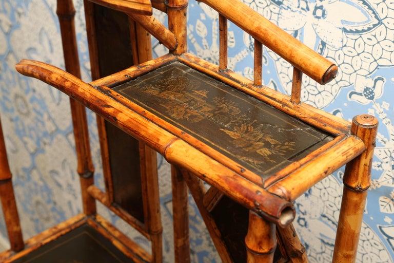 Superb 19th Century English Bamboo Magazine Rack For Sale 4