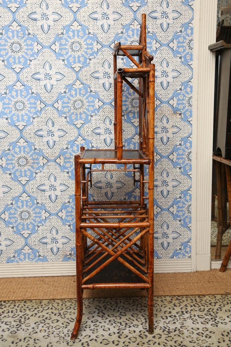 Superb 19th Century English Bamboo Magazine Rack For Sale 5