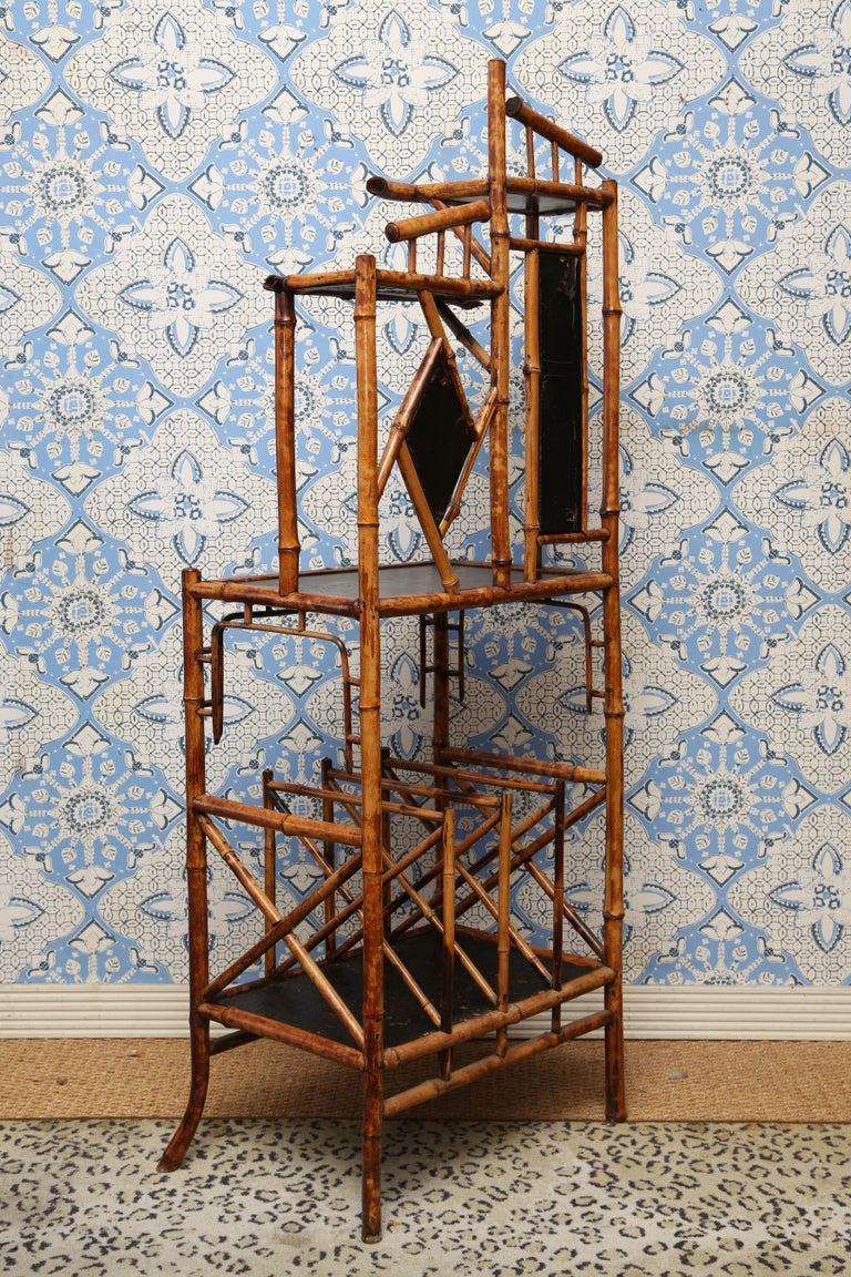 Superb 19th Century English Bamboo Magazine Rack For Sale 6