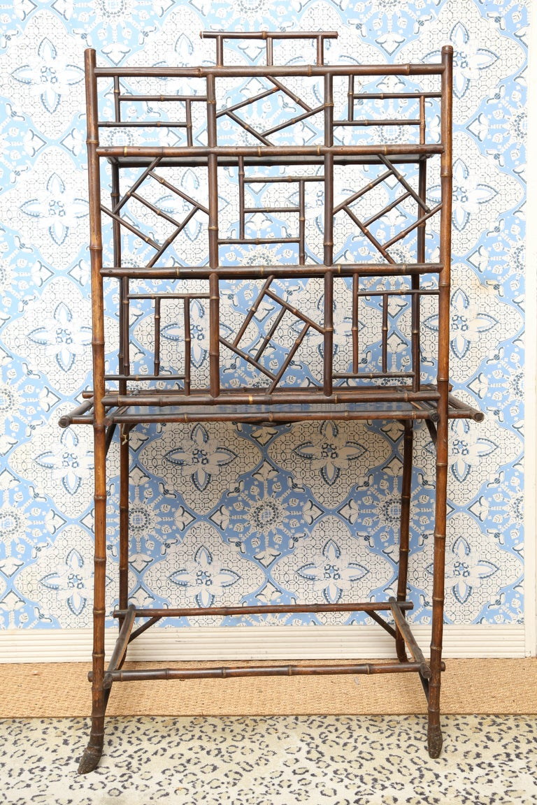 Superb 19th Century English Bamboo Server or Etagere  For Sale 1