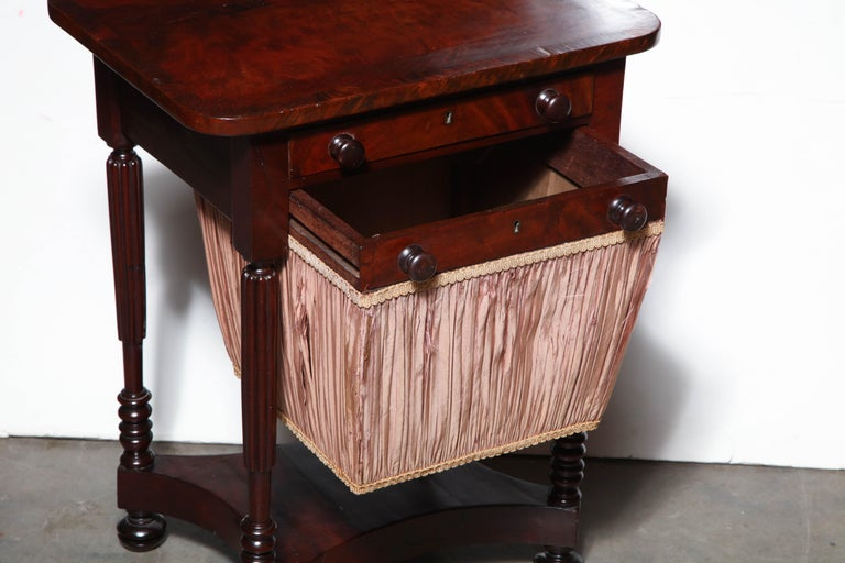 American Federal Mahogany Worktable For Sale
