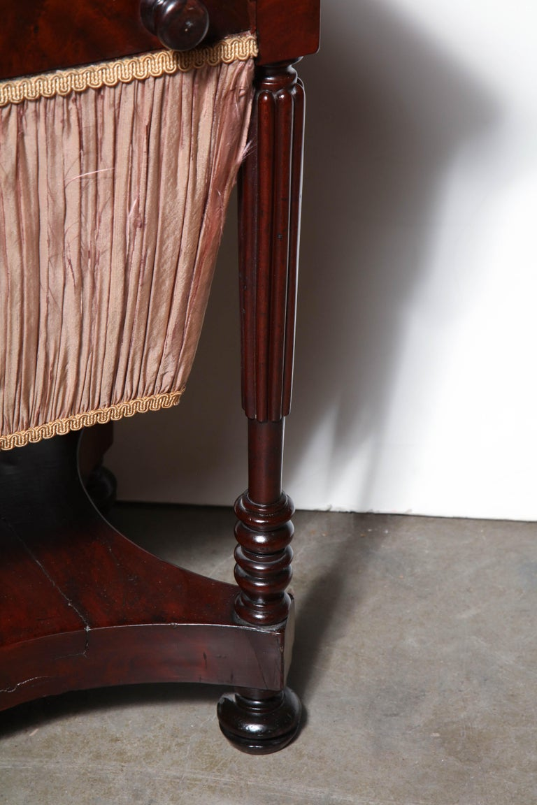 Early 19th Century Federal Mahogany Worktable For Sale