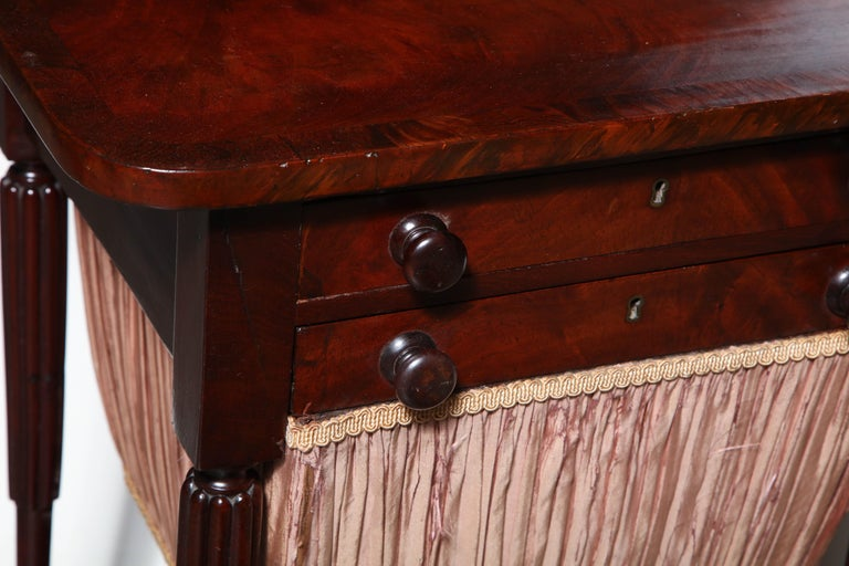 Federal Mahogany Worktable For Sale 1