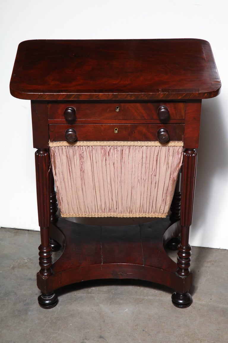 Federal Mahogany Worktable For Sale 2