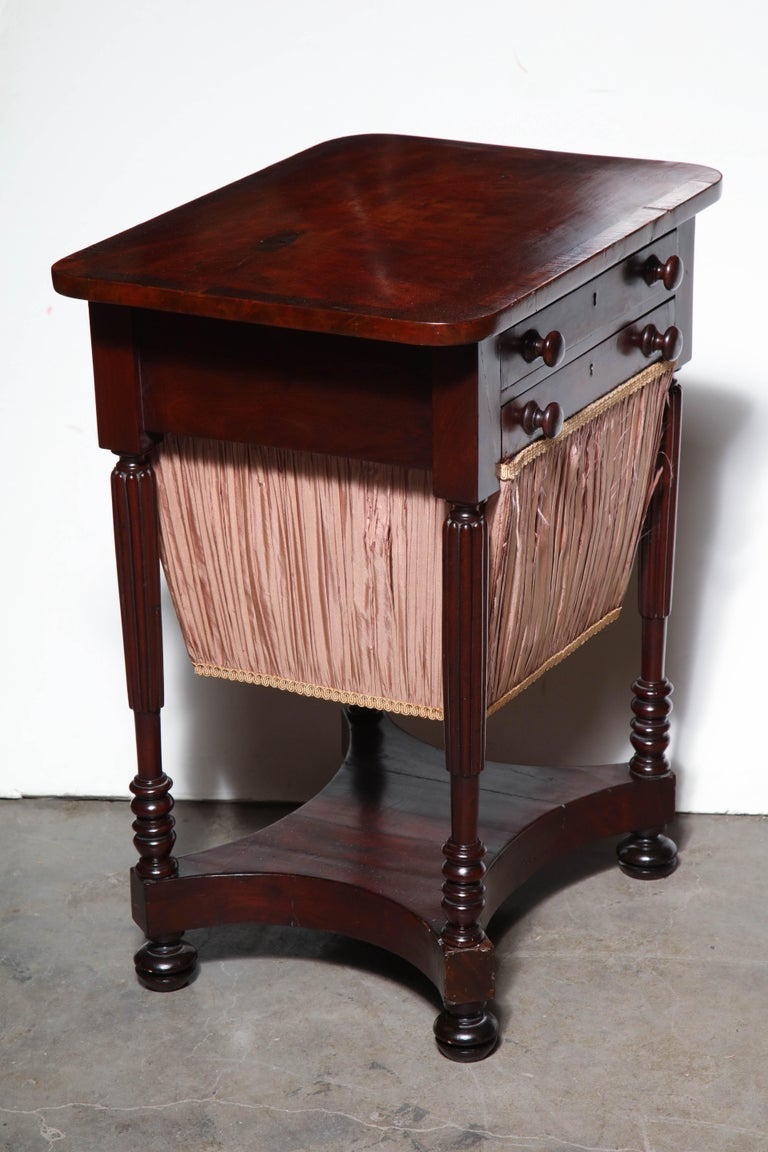 Federal Mahogany Worktable For Sale 3