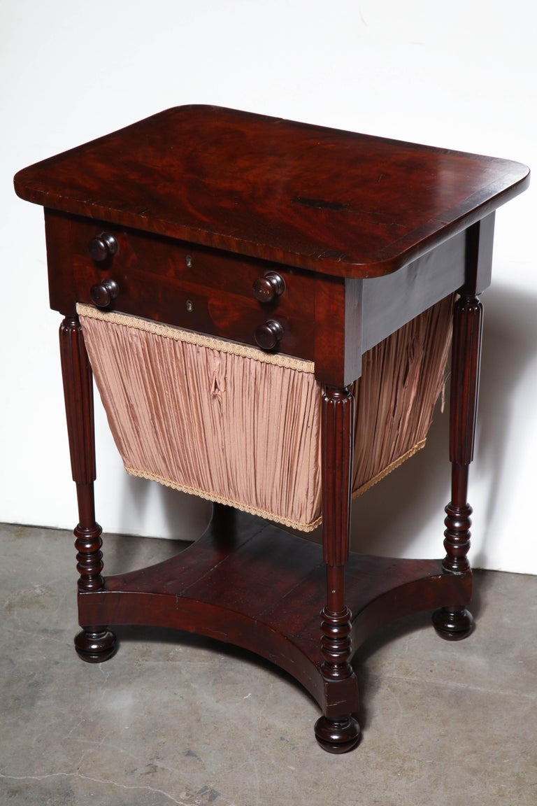 Federal Mahogany Worktable For Sale 4
