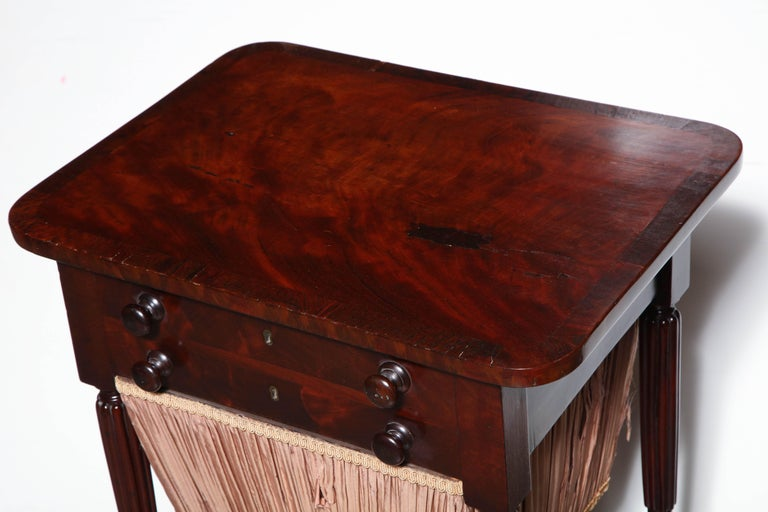 Federal Mahogany Worktable For Sale 5