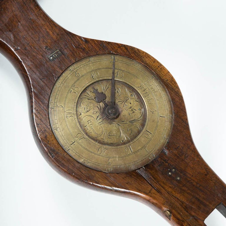 A Georgian mahogany Waywiser by Richard Glynne of Fleet Street, London, circa 1725. 
