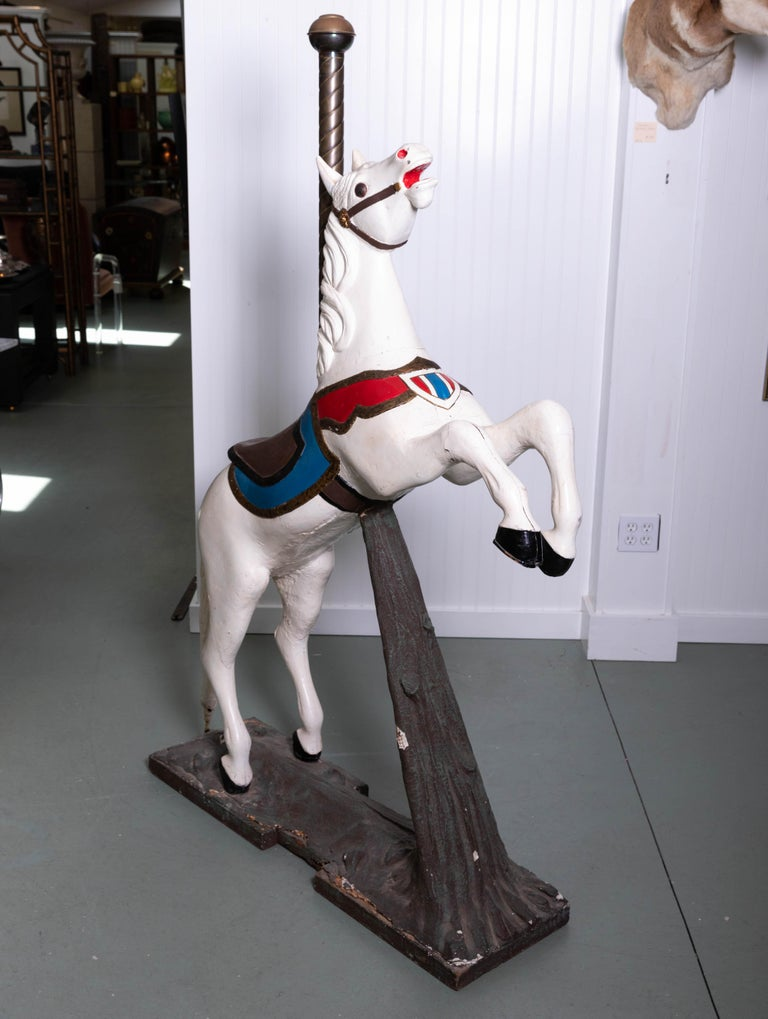 Unknown Late 19th Century Wooden Carousel Horse in Fixed Position For Sale