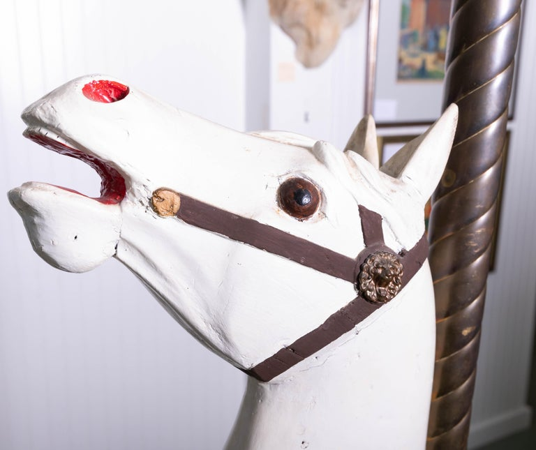 Late 19th Century Wooden Carousel Horse in Fixed Position For Sale 6