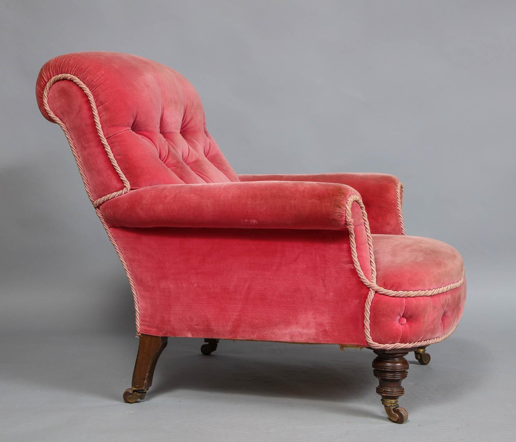 Edwardian English Club Chair For Sale