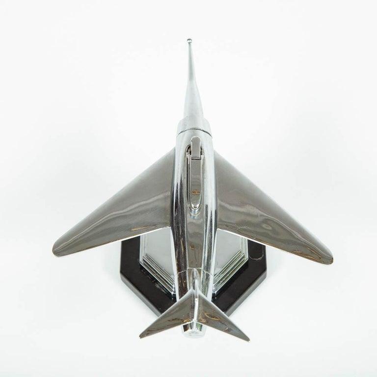 Gala Sonic Chrome Jet Airplane Desk Lighter For Sale 1