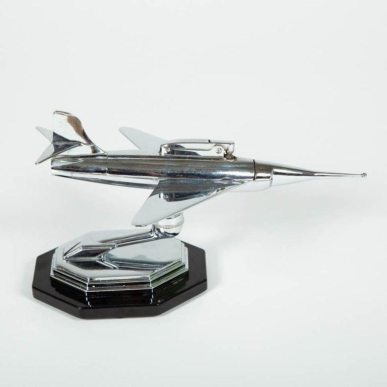 Gala Sonic Chrome Jet Airplane Desk Lighter For Sale 2