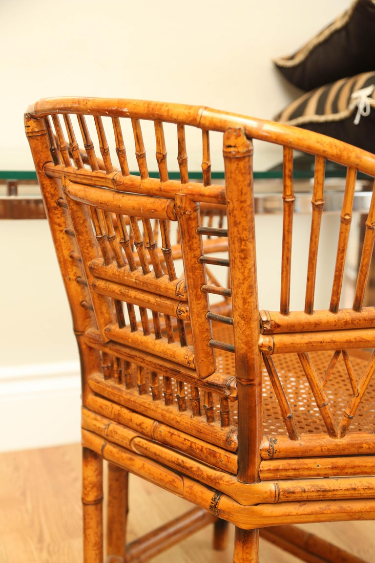 Pair of Vintage Bamboo Brighton Pavilion Armchairs  For Sale 2