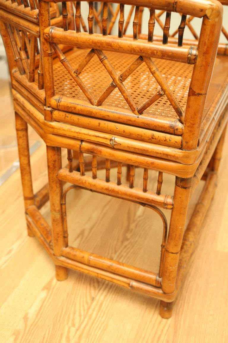 Pair of Vintage Bamboo Brighton Pavilion Armchairs  For Sale 3