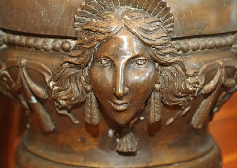 Pr/bronze Urns with mythological representation from Chinese collector. Mythological figure representation.