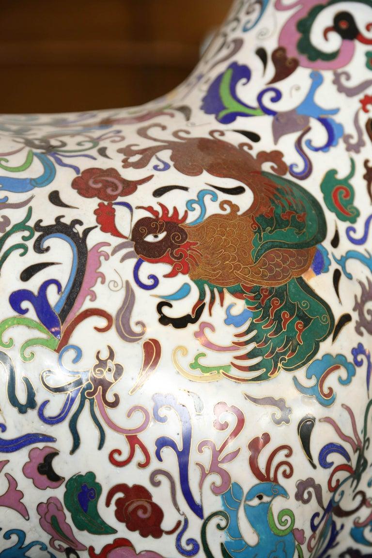 Cloissoné PR/Cloisonne Antique Pair of Rams 19th Century, China For Sale