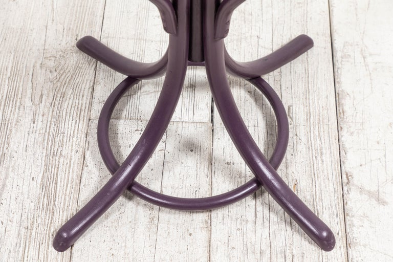 Mid-20th Century Aubergine Painted Bentwood Coat Tree with Umbrella Holder For Sale