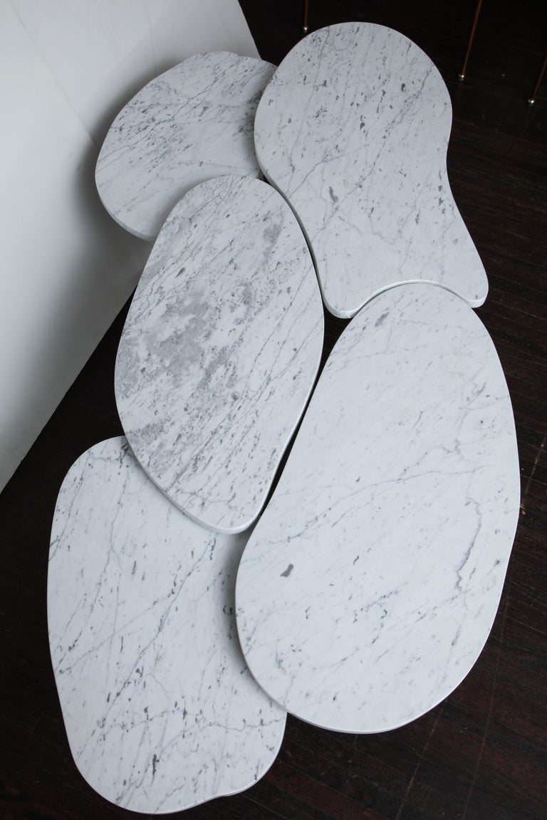 Organic Free-Form Marble Cocktail Table In Excellent Condition For Sale In New York, NY