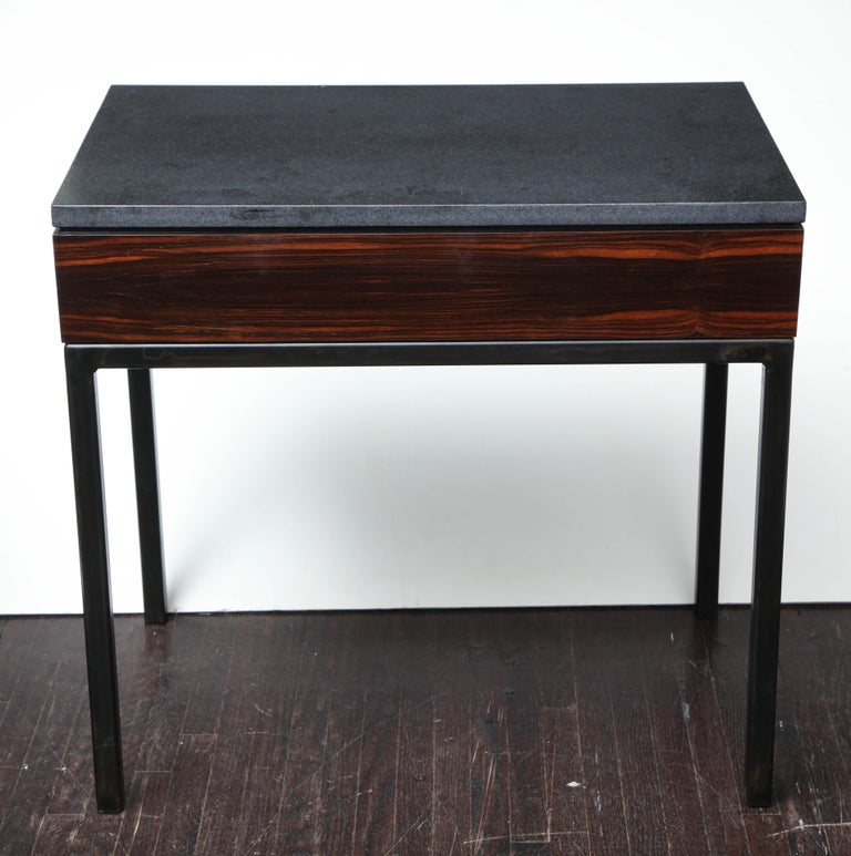 Absolute Black Granite Side Table For Sale 1