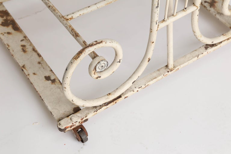 18th Century Marble and Iron French Butcher Table For Sale 1