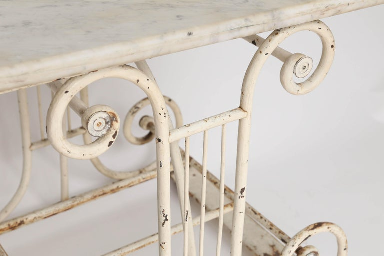 18th Century Marble and Iron French Butcher Table For Sale 2
