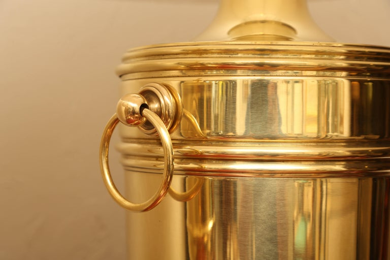 20th Century Pair of Vintage Ralph Lauren Brass Urn Style Lamps For Sale