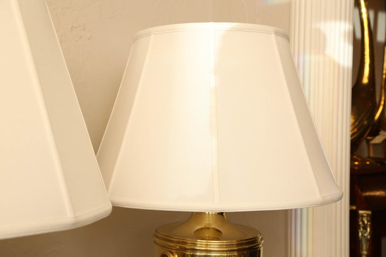 Pair of Vintage Ralph Lauren Brass Urn Style Lamps For Sale 3