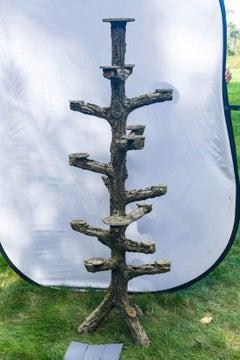 Rare Faux Bois Plant Stand