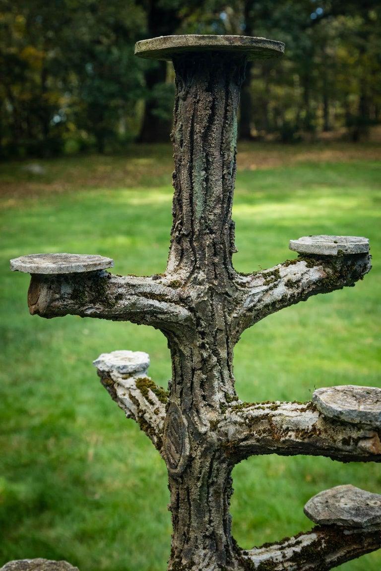 Rare Faux Bois Plant Stand For Sale 1