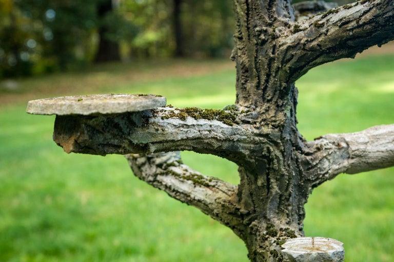 Rare Faux Bois Plant Stand For Sale 4