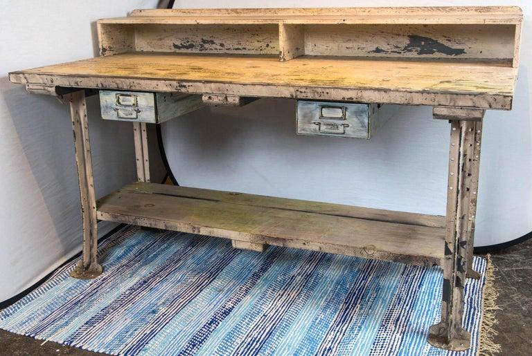 American Vintage Industrial Work Desk For Sale