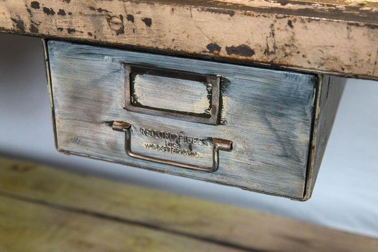 Vintage Industrial Work Desk In Good Condition For Sale In Norwalk, CT
