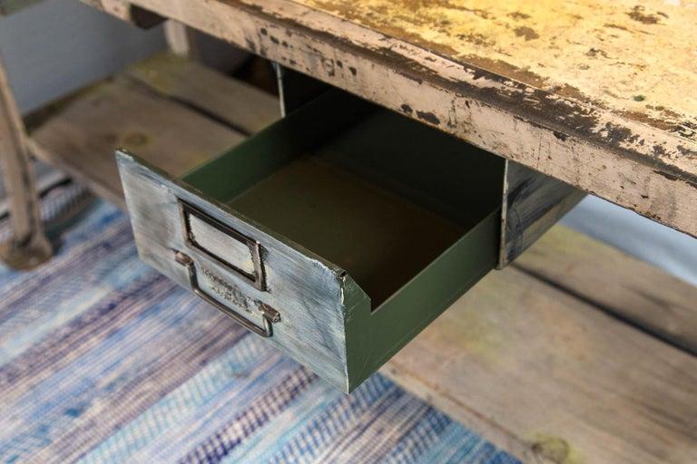 Vintage Industrial Work Desk For Sale 1