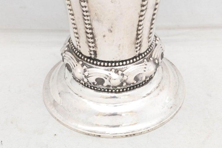 Norwegian Art Deco Continental Silver '.830' Vase by David Andersen For Sale