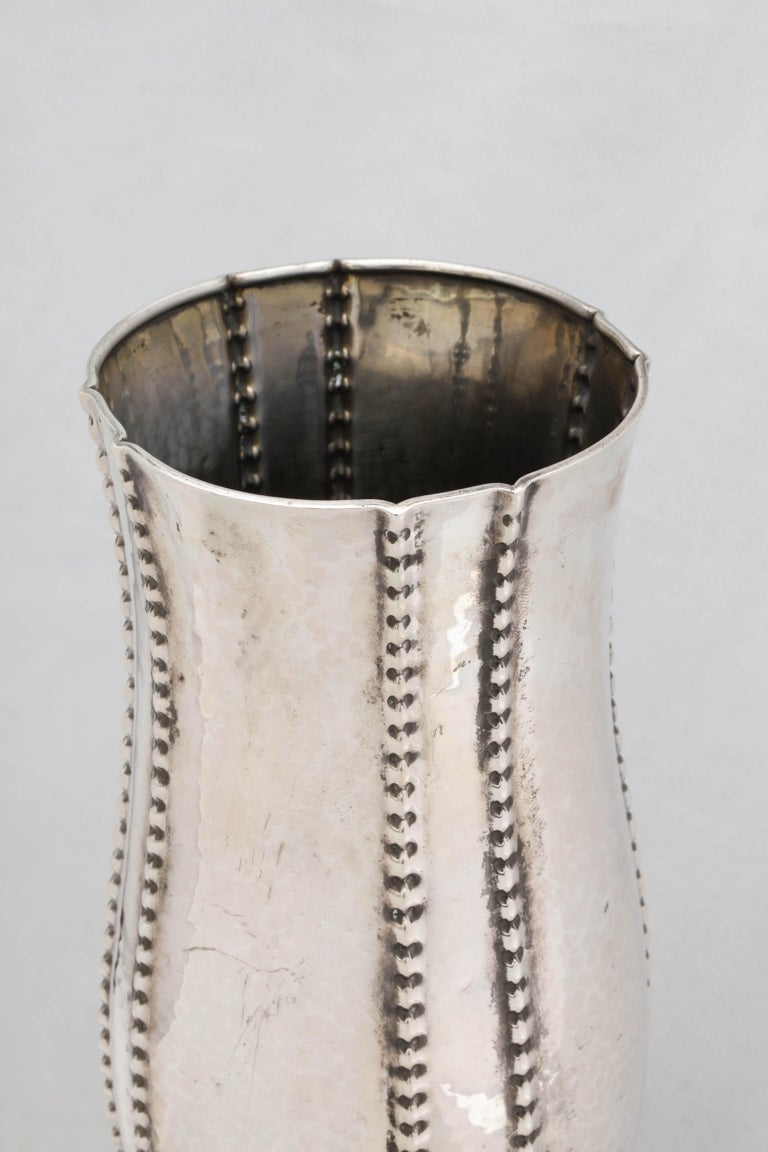 Early 20th Century Art Deco Continental Silver '.830' Vase by David Andersen For Sale