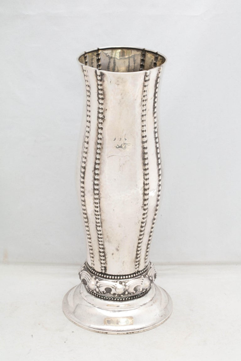 Sterling Silver Art Deco Continental Silver '.830' Vase by David Andersen For Sale