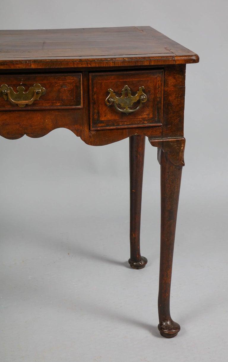 English Queen Anne Walnut Lowboy For Sale