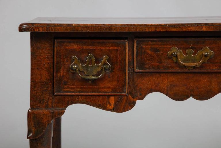 18th Century Queen Anne Walnut Lowboy For Sale