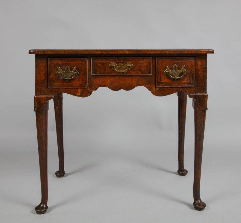 Queen Anne Walnut Lowboy For Sale 1