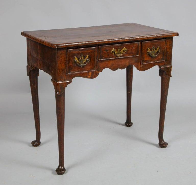 Queen Anne Walnut Lowboy For Sale 2