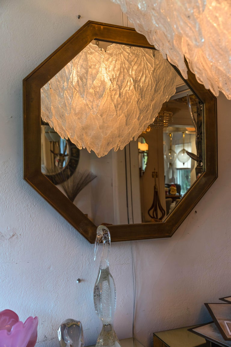 American Octagonal Patinated Surround Mirror, by Mastercraft For Sale